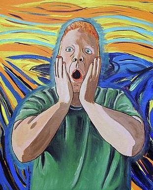 The Artist as Munch's Scream